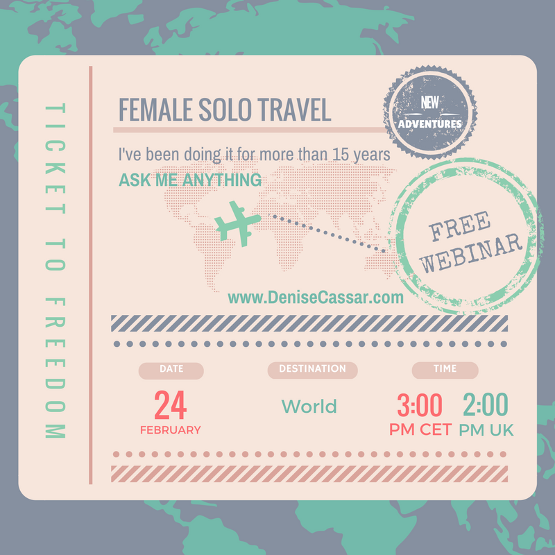 female solo travel, free webinar