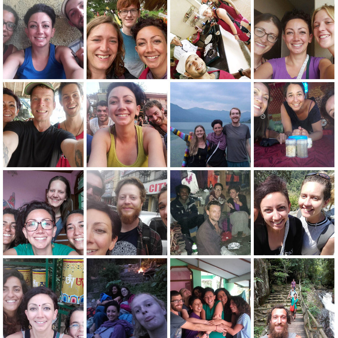 Whenever you're scared of travelling solo - please, take a look at all the happy faces of us 'poor, lonely, scared' solo travellers, out in this horrid, cruel world A